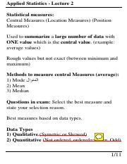 Applied Statistics - Lecture 2.pdf