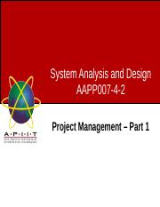 Week04 - Lecture 1 - Project Management