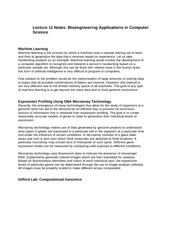 Lecture 11 Notes Bioengineering Applications in Computer Science