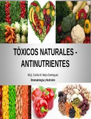 Clase 3 Toxicos Naturales- Antinutrientes.ppt