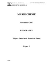 Geography HL+SL paper 2