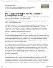 do happier people work harder