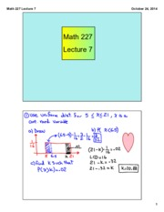 Math 227 Lecture 7