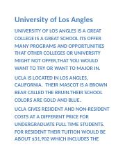 University of Los Angles.docx