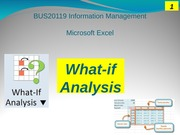 w4 tutorial - MS Excel What-if analysis