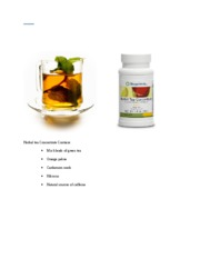 Herbal tea Concentrate Contains
