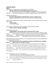 Anthropology 103 Final Study Guide Quizzes