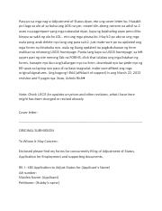 AOS EAD AP cover letter forms tips