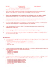 Chapter 16 Class Questions  2011