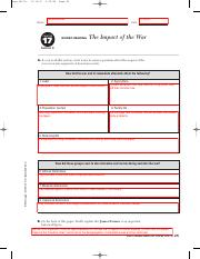 Worksheet 17 4 Finished Pdf Aran 0517ir 2 49 Pm Page 25 Delilia Minshall Name Date Chapter 17 Guided Reading The Impact Of The War Section 4 A As Course Hero