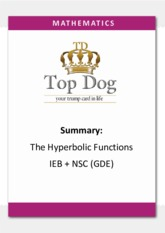 Hyperbolic Functions Summary