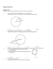 Math 9 Geometry Test