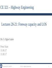 5 - Lecture 20-21 - Freeway capacity and LOS.pdf