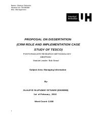 55003517-Proposal-of-My-Dissertation-CRM-Role-in-Tesco
