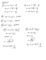 Homework 4 Solution Summer 2014 on Pre-Calculus