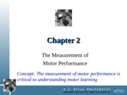 Chapter 2 - The Measurement of Motor Performance