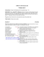 CHEM 211 Problem Set 5 Separations