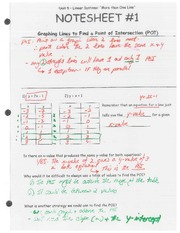 Notesheet 1- Linear Systems