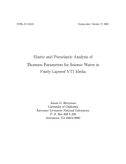 Elastic and poroelastic analysis of thomsen parameters for seismic waves in finely layered VTI med