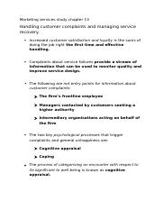 Marketing services study chapter 13
