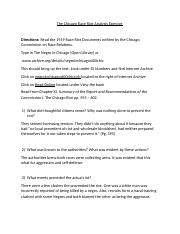AAST 220 - Assignment - The Chicago Race Riot Exercise.docx