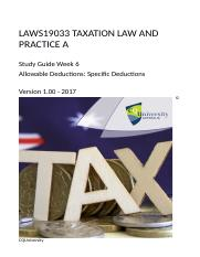 LAWS19033_06_2017_Allowable deductions Specific deductions v1.01e.docx