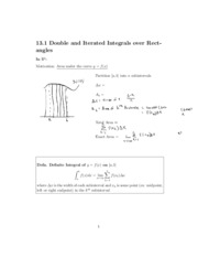 Double and Iterated Integrals over Rectangles