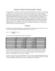 tute monte carlo simulation solution 2014