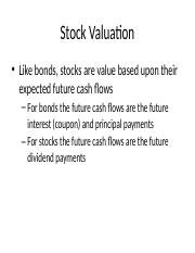 LECTURE 8 - Stock Valuation.pptx