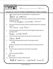 FINANCIAL INSTITUTIONS HOMEWORK