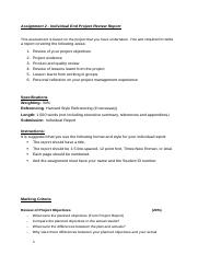 PM Assignment 2 - Individual Report (1)