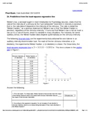 24. Predictions from the least-squares regression line
