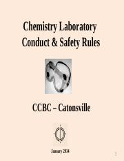 108 00 10 Chem Lab Conduct & Safety Rules Jan 2014 revised.ppt