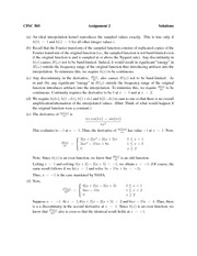 CPSC 505 Winter 2013 Assignment 2 Solutions