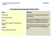 Ch. 8 - Inflation : Interest Rate Notes
