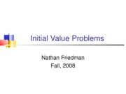 (22) Initial Value Problems