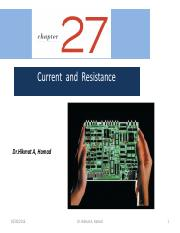 Ch-27-Current and Resistance