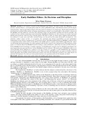 Early Buddhist Ethics- Its Doctrine and Discipline.pdf