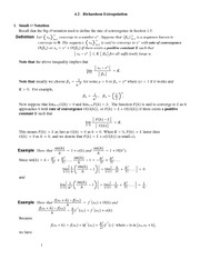 Lecture Notes on Richardson Extrapolation