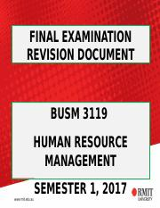 1 8 5 2017 BUSM 3119 FINAL EXAM REVISION DOCUMENT SEMESTER 1 2017_updated.ppt