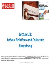 Ch 10 - Labour Relations and Collective Bargaining