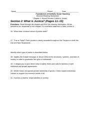 Section 2- What is Justice- (Pages 11–15)
