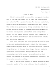 robert frost term papers