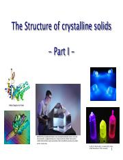 Lecture 3-Crystal Structures