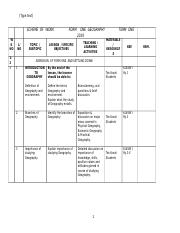 SCHEME  OF  WORK                 FORM    ONE  GEOGRAPHY                TERM  ONE   2016.docx