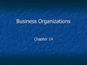 Legal Studies 2700 Business Organizations Slides