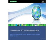 1.4 - Introduction to SQL and database objects (1)