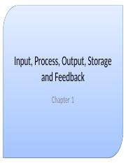 06 - Input, Process, Output, Storage and Feedback.ppt