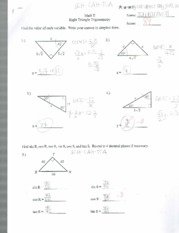 Right angle trig