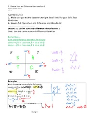 5.1 Cosine Sum and Difference Identities Part 2-1